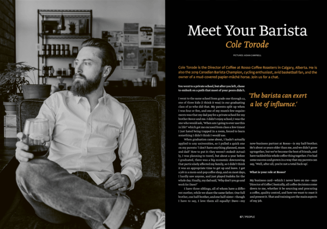 Meet Your Barista : Cole Torode. Photo : standartmag.com